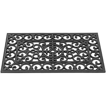Gardman 82341 Victorian Style Doormat, Black