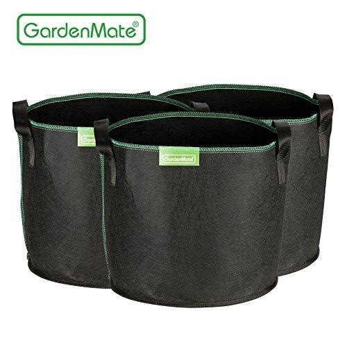 GardenMate® 3x Sacs Jardinière à plantes en tissu non tissé 20L