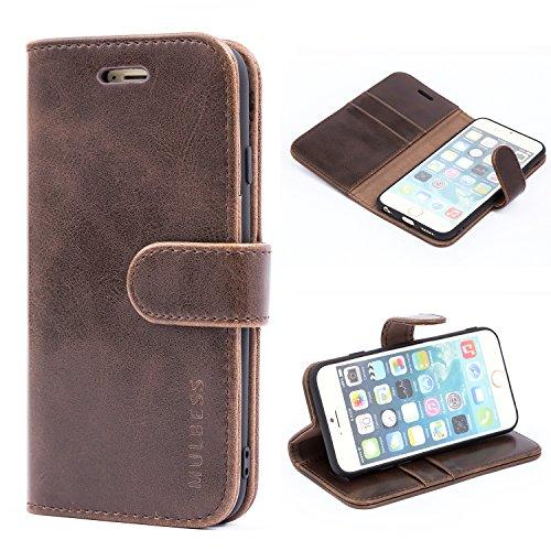 Mulbess Ledertasche im Ständer Book Case / Kartenfach für Apple iPhone 6 / 6S (4,7 Zoll) Tasche Hülle Leder Etui,Vintage Braun