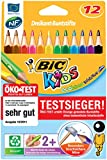 BiC Kids Evolution Triangle Colouring Pencils - Wallet x 12
