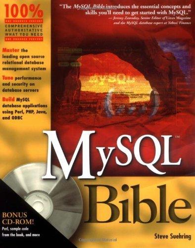 MySQL Bible w/CD by Steve Suehring (2002-06-21) par Steve Suehring;
