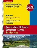 Falk Straßenatlas Deutschland, Schweiz, Österreich, Europa 2018/2019 1 : 300 000 (Falk Atlanten) -