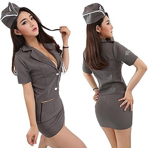 SEX WOMEN Policière A Installé Le / La Police Habillement Uniforme Lingerie Racé Jeu Uniforme De Rôle