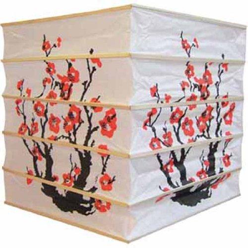 320, Lampion 1 Stk. Papier weiss japanisch 30 x 30 x 30 cm Kirschblüte