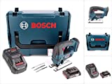 Bosch GST 18 V-Li B Professional Akku Stichsäge in L-Boxx + 1 x GBA 2,0 Ah Akku + GAL 1880 CV Schnellladegerät