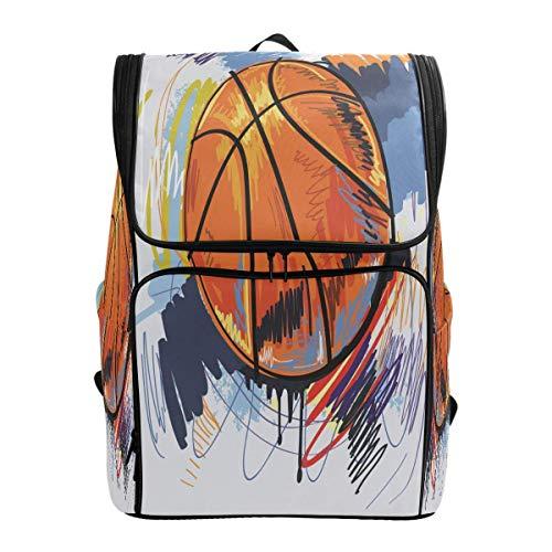 Aquarell Basketball Sport Malerei Rucksack Bookbags College Laptop Daypack Reisen Schule Wandern Tasche für Damen Herren
