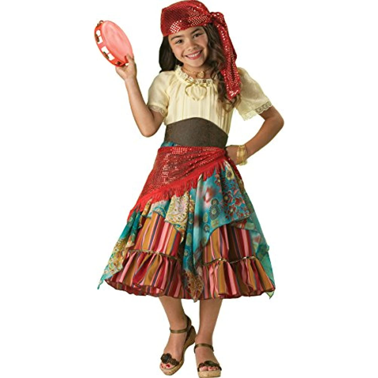 Incharacter Costumes Girls Fortune Teller Costume Multi Color Size