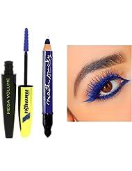 Kit L'Oréal Paris Mega Volume Miss Manga Mascara Bleu Indigo + 1 Crayon Gemey Maybelline Expression Kajal Precision...