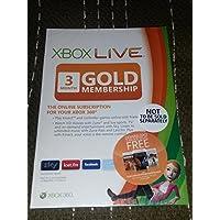 Xbox Live - Gold Card 3 Mesi [Edizione: Regno Unito]