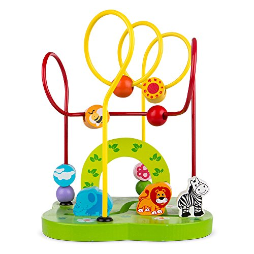 ColorBaby - Wood labyrinth Animals & geometric shapes (42742)