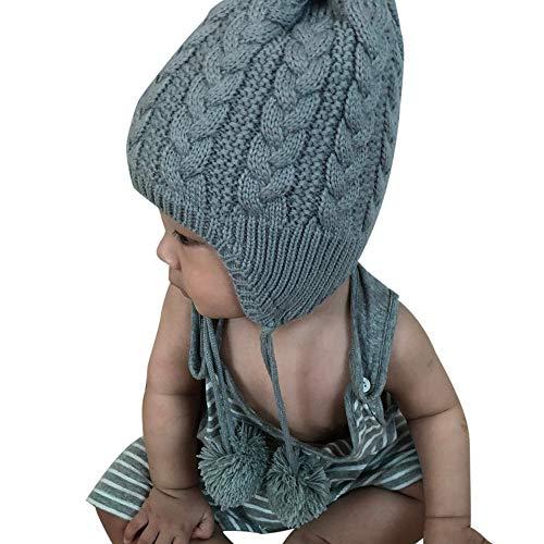 311b2e47069a Chapeau Enfant ADESHOP Mode Enfant GarçOn Fille Hiver Chaud ÉPaissir  Couleur Unie Chapeau De Ski Bonnet
