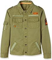 RED WAGON Jungen Military-Jacke, Grün (Olive), 104 (Herstellergröße: 4 Jahre)