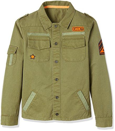 REDWAGON Military Jacket - Chaqueta Niños, Verde Olive, 4 años