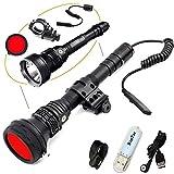 Klarus XT30R Jagd Taschenlampe Jagd Kit CREE XHP35 HI D4 LED 1800 Lumens Wiederaufladbare Tactical Taschenlampe Mit 18650 Akku+Schiene Halterung+Rot Filter+Dual Fernbedienung Schalter+USB Lampe