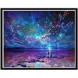 Espeedy Star Diamond Painting,5D diamante bordado noche cielo pintura paisaje redondo diamante mosaico punto de Cruz de costura decoración de pared