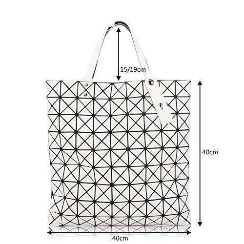 Diamante laser-a forma di borse a catena pieghevole, pacchetto geometrico della rete ling, diagonale cross variet¨¤ piccolo pacchetto-D E