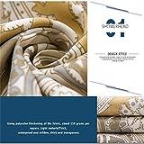 Duschvorhang von Gwell mit Mandalamotiv für die Badewanne, aus Polyester, formbeständiger Duschvorhang, Polyester, Design 5, 180cm*210cm= 70