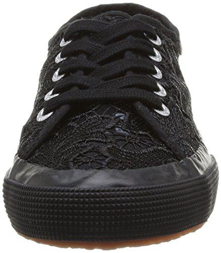 Superga 2750 MACRAMEW Unisex-Erwachsene Sneakers Schwarz (Full Black S996)
