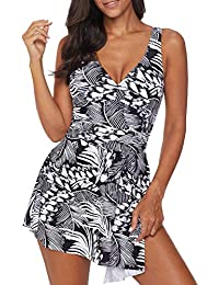 7d312f66713 4.7 out of 5 stars 6 · Asvivid Women s Tankini Dress Black Flowy Lace Tank  Overlay One Piece Swimsuit Size ...
