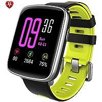 Willful smartwatch con Pulsómetro,Impermeable IP68 Reloj inteligente,Fitness Tracker con cronómetro, Monitor de sueño,monitor de ritmo cardíaco,Podómetro, Contador de caloría,calendario,control remoto de música,Pulsera Actividad pulsera inteligente para Android y IOS (verde)