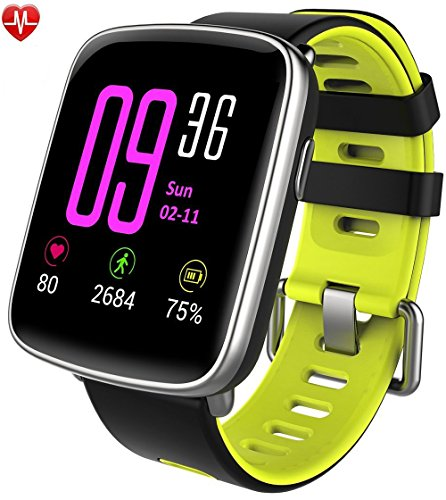Willful smartwatch con Pulsómetro,Impermeable IP68 Reloj inteligente,Fitness Tracker con cronómetro, Monitor de sueño,monitor de ritmo cardíaco,Podómetro, Contador de caloría,calendario,control remoto de música,Pulsera Actividad Bluetooth pulsera inteligente para Android y IOS (verde)