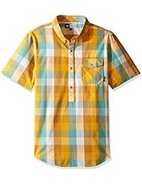 LRG Men's Illumination Short Sleeve Woven Shirt