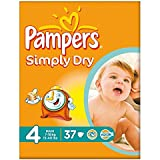 Pampers Simply Dry Taille 4 Maxi 7-18kg (37) - Paquet de 6