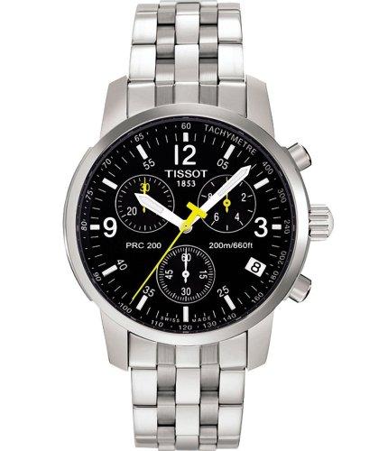 Armbanduhr Tissot PRC 200T17158652Quarz (Batterie) Stahl Quandrante schwarz Armband Stahl