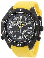 Reloj de caballero Timex Expedition Altimetro E T49796 de cuarzo, correa de goma color amarillo de Timex
