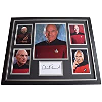 Sportagraphs Patrick Stewart SIGNED Framed Photo Autograph Huge display Star Trek Film COA PERFECT GIFT