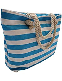 31220aa8ab Borsa Shopper Grande Da Spiaggia In Tela Con Chiusura Cerniera Zip Donna  Bambina Da Mare Stampa