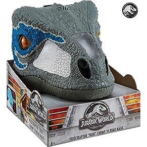 Jurassic World- Dino-Máscara con Sonidos, (Mattel FMB74)