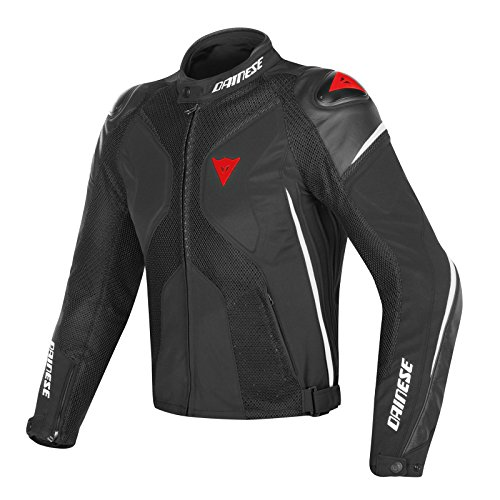 Dainese-super rider d-dry giacca da moto, nero/bianco/rosso, taglia 48