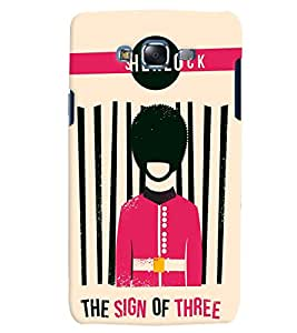 Citydreamz Sherlock/Sign of Three/Abstract Hard Polycarbonate Designer Back Case Cover For Samsung Galaxy On7