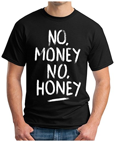 OM3 - NO-MONEY-NO-HONEY - T-Shirt, S - 5XL Schwarz