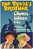 prz0vprz0v 12' x 18' Aluminum Sign, Metal Sign, Vintage Tin Sign - The Devil's Brother - Starring Stan Laurel & Oliver Hardy - Comic Opera (FRA Diavolo) by Auber Retro Sign