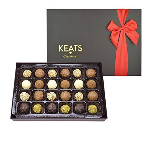 KEATS CHOCOLATIER FINE TRUFFLES ASSORTMENT IN HAND MADE GIFT BOX CHOCOLATE 290g