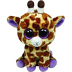 TY - Safari, peluche jirafa, 15 cm, color amarillo (36011TY)