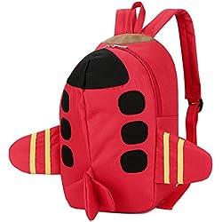 DafenQ Lindo La mochila de jardín de infantes embroma la bolsa de la escuela de la taleguilla Bolso de escuela Guarderia Saco Preescolar Bambino para bebé Niño Niña (Rojo)