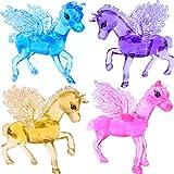 German Trendseller® - 1 x magique cheval en optique cristal┃couleurs vives┃pour enfants┃ petit cadeau┃l'anniversaire d'enfant┃ pegasus┃ cheval avec ailes