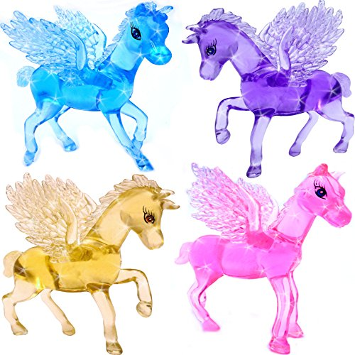 German Trendseller® - Magisch Zauberhaftes - Kristall Pferd - für Kinder ┃ Mädchen Farben ┃ Mitgebsel ┃ Kindergeburtstag ┃ Zauber - Pferd ┃ 1 Stück