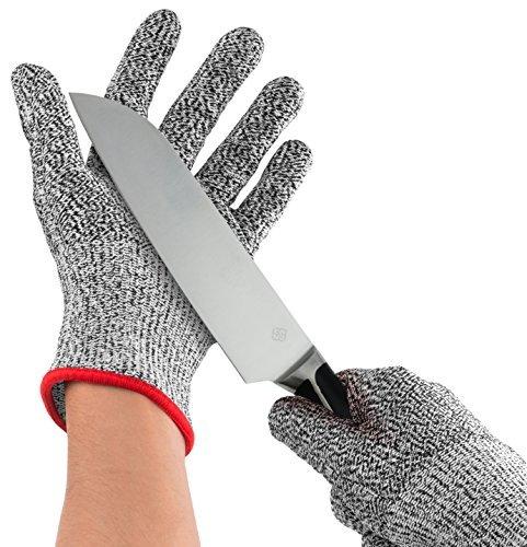 Nuovoware Schnittschutzhandschuhe, Hochleistung Schnittschutz Handschuhe Lebensmittelecht 5 Ebene Handschutz für Haus & Küche Arbeitssicherheit, EN388 Certified, 1 Paar(Extra Large Size)