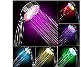 Wuayi coloré lumière LED Lumineux à bain d'eau Maison de salle de bain douche Glow