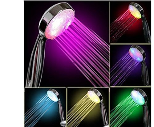 wuayi Automatische Farbwechsel Bunte LED Licht Bright Wasser Bad Home Badezimmer Dusche Glow