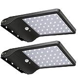 20W LED Solar Farola, lámparas de pared con detector de movimiento para exteriores, Noche...