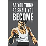 Inephos Bruce Lee As You Think Quote Poster Art | Inspirational Posters For Room (12 X 18 Inch)