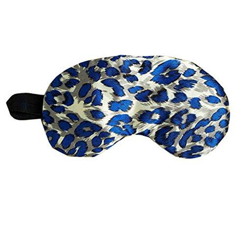Élégant et stylé Masque pour les yeux Soft soie visière, Leopard (Bleu)