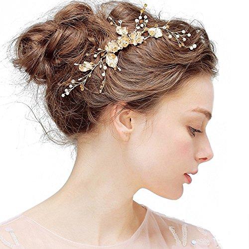 Hochzeit Crystal Hair Pin, OKSakady Haarspange Haar Kamm dekorative Haarschmuck für Bridal