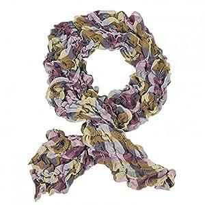 Tuch Halstuch Schal Crinkle Rundschal Langschal Damen Muster für Top Bluse Jacke, Modell:Modell 1