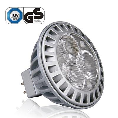 LE 5 Watt MR16 LED-Spotlight, LED-Scheinwerfer, entspricht 50W-Halogen-Lampe, warmweiß, effiziente Beleuchtung,12V AC, GU5,3-Sockel von Lighting EVER auf Lampenhans.de